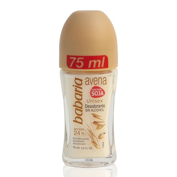 Babaria avena desodorante roll-on sin alcohol contiene soja 75ml
