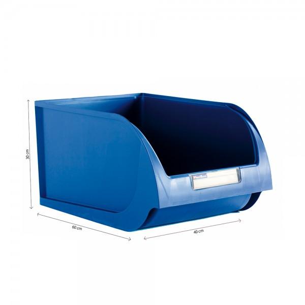 Contenedor 40cm titanium azul
