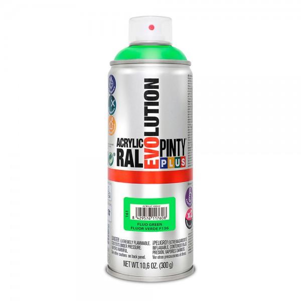 Pintura en spray pintyplus evolution 520cc  fluor.verde f136